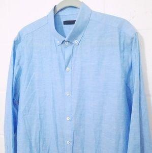 ZACHARY PRELL L/S BUTTON DOWN Linen Blend Shirt